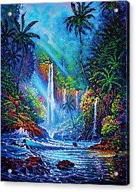 Waterfall  River Of Life Acrylic Print