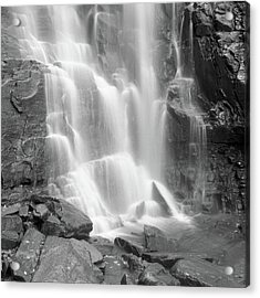 Waterfalls At Chimney Rock State Park Acrylic Print by Holden Richards