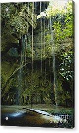 Waterfalls  Acrylic Print by Jacques Jangoux and Photo Researchers
