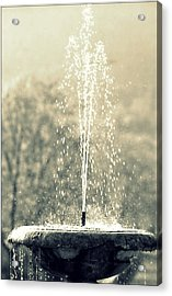 Waterfountain Acrylic Print by Emanuel Tanjala