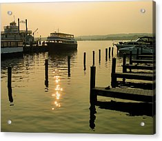 Waterfront Docks Acrylic Print by Steven Ainsworth