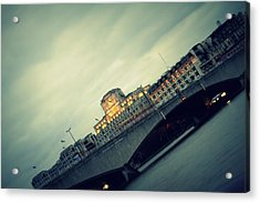 Waterloo Bridge Acrylic Print by Jacqui Collett