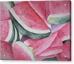 Watermelon Feast Acrylic Print