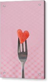 Watermelon Heart Acrylic Print by Elin Enger