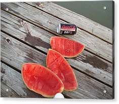 Watermelon Rinds Acrylic Print by Charles Weinacker
