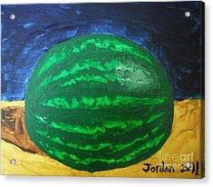 Watermelon Still Life Acrylic Print by Jeannie Atwater Jordan Allen