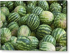 Acrylic Print featuring the photograph Watermelons by Andrew  Michael
