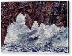 Water's Fury Acrylic Print by Patricia Hiltz