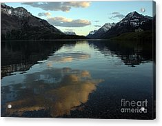 Acrylic Print featuring the photograph Waterton Lake Sunset Canada by Vivian Christopher