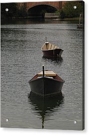 Waterway Boats Acrylic Print