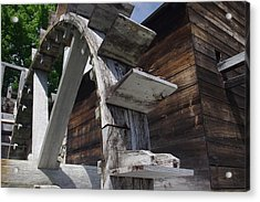 Waterwheel Acrylic Print by David Rizzo