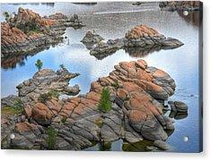 Watson Lake Acrylic Print by Michael Biggs