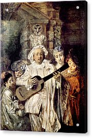 Watteau: Gilles & Family Acrylic Print by Granger