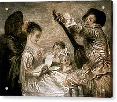 Watteau: Music Acrylic Print by Granger