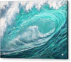 Wave 10 Acrylic Print by Lisa Reinhardt