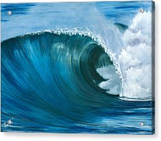 Wave 2 Acrylic Print by Lisa Reinhardt
