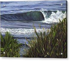 Wave 4 Acrylic Print by Lisa Reinhardt