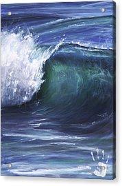 Wave 5 Acrylic Print by Lisa Reinhardt