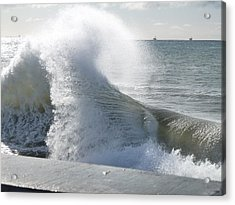 Wave And Wind Acrylic Print