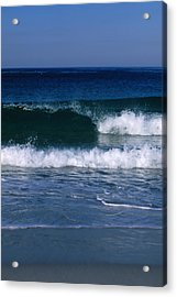 Wave Breaking Left On The Beach At 17 Acrylic Print by James Forte