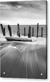Wave In Black And White Acrylic Print by Svetlana Sewell