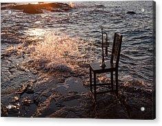 Wave Splash 2 Acrylic Print by Ron Smith