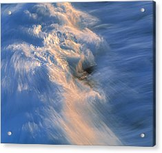 Wave Striking Rock Acrylic Print by G. Brad Lewis