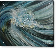 Acrylic Print featuring the painting Wave Whirl by Julie Brugh Riffey