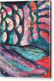 Waves And Scales Acrylic Print by Anne-Elizabeth Whiteway