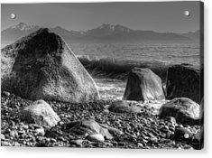 Waves At Diamond Beach Acrylic Print by Michele Cornelius