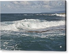 Waves Breaking 7952 Acrylic Print by Michael Peychich