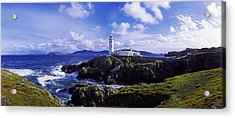 Waves Breaking On The Coast With A Acrylic Print by The Irish Image Collection