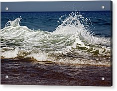 Waves In Motion Acrylic Print by Nick  Shirghio