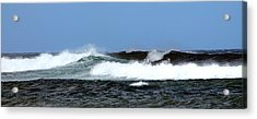 Waves On North Shore Acrylic Print by Elizabeth  Doran