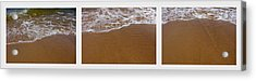 Waves Triptych Acrylic Print by Michelle Calkins