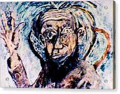 Waving Hand Acrylic Print by Bill Davis