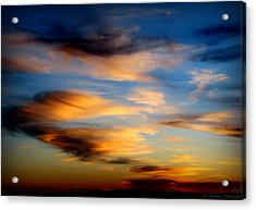 Wavy Sunset Clouds Acrylic Print by Aaron Burrows