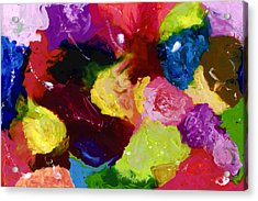 Wax Rainbow On Canvax Two K O One Acrylic Print by Carl Deaville
