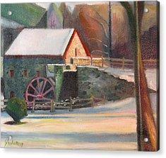 Wayside Inn Mill Acrylic Print by Sid Solomon