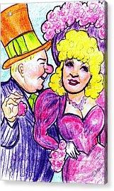 W.c. Fields And Mae West Acrylic Print