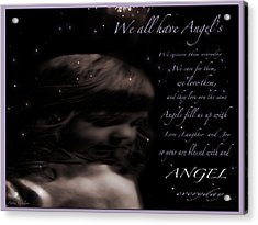 We All Have Angels Acrylic Print by Debra     Vatalaro