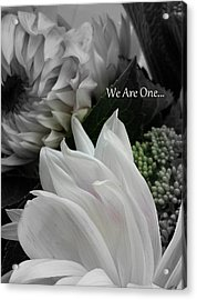 We Are One Acrylic Print by Sian Lindemann