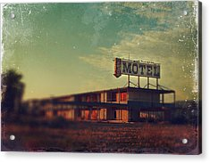 We Met At The Old Motel Acrylic Print by Laurie Search