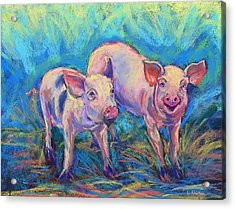 Acrylic Print featuring the photograph We Won't Be Bacon by Li Newton