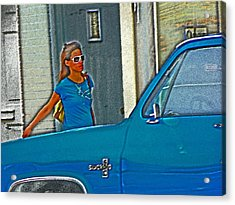 Wearing The City Acrylic Print by Lenore Senior