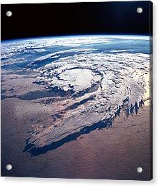 Weather Systems Above Earth Acrylic Print by Stockbyte