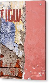 Weathered And Cracked Wall Acrylic Print by Jeremy Woodhouse
