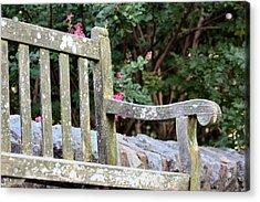 Weathered Bench Acrylic Print