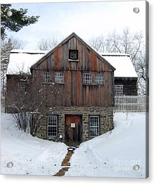 Weathered Building At Old Sturbridge Village Acrylic Print by John Small