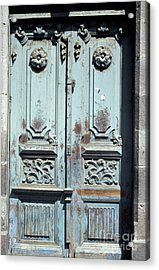 Acrylic Print featuring the photograph Weathered Quito Door Ecuador by John  Mitchell